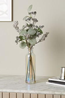 Artificial Floral in Glass Bottle