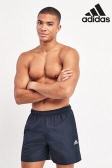 adidas Navy Solid Swim Shorts