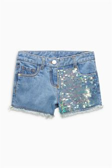 Sequin Denim Shorts (3-16yrs)