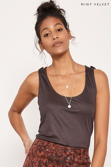 Mint Velvet Brown Mocha Utility Vest