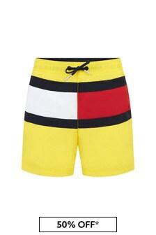 Tommy Hilfiger Yellow Swim Shorts