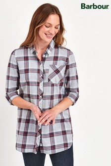 Barbour® Grey Check Deepsea Tunic Shirt