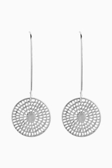 Tone Interest Pull Through Earrings