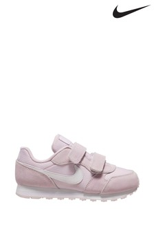 Nike Lilac/White MD Runner Junior Velcro Trainers