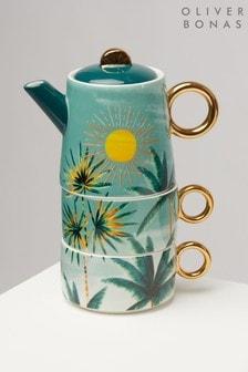 Oliver Bonas Sol Ceramic Tea for Two Set