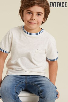 FatFace Natural Sport Rib Plain T-Shirt