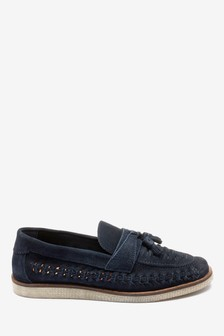 Weave Wedge Loafers
