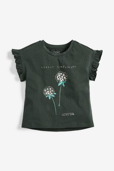 Pearl Embellished Floral T-Shirt (3-16yrs)
