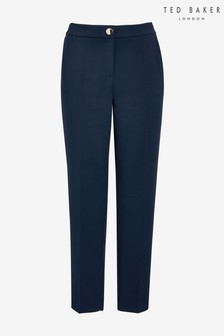 Ted Baker Blue Sskyet Ottoman Panel Trousers