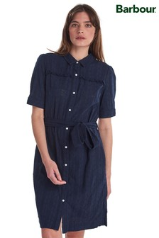 Barbour® Heritage Navy Broderie Anglaise Hallie Shirt Dress