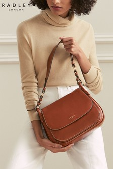 Radley London Chestnut Harper Road Large Flapover Shoulder Bag
