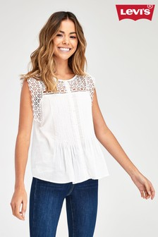 Levi's® White Broderie Blouse