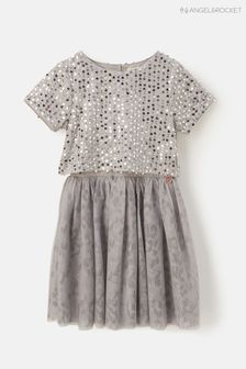 Angel & Rocket Silver Sequin Mesh Dress