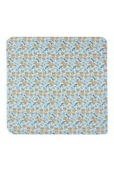 Baby Boys Blue Cotton Teddy Blanket