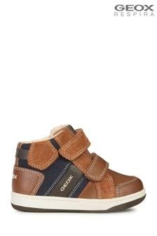 Hnedé chlapčenské topánky Geox