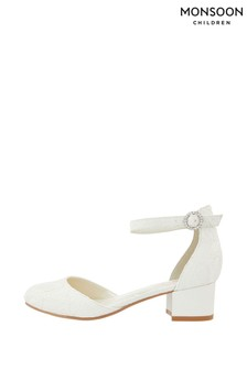 Monsoon Storm Everleigh Ivory Lace Two Part Shoes