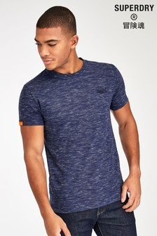 Superdry T-Shirt mit Stickerei, Marineblau