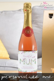 Personalised Beautiful Mum Sparkling Rosé by Signature PG