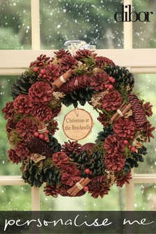 Personalised Cinnamon Pine Wreath by Dibor