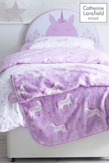 Folk Unicorn Throw by Catherine Lansfield