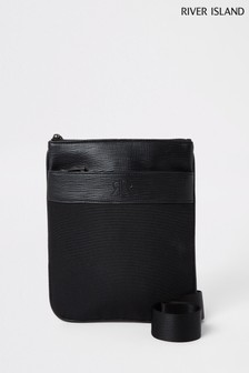 River Island Black Flight Bag