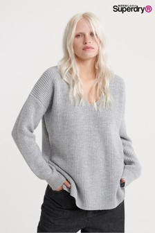 Superdry Grey Embroidered Jumper