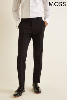 Moss London Skinny Fit Black Dresswear Trousers