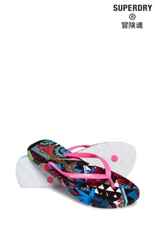 Superdry Super Sleek All Over Print Flip Flop