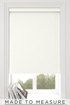 Haig White Made To Measure Blackout Roller Blind