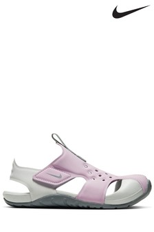 Nike Pink/White Sunray Protect Junior & Youth Sandals
