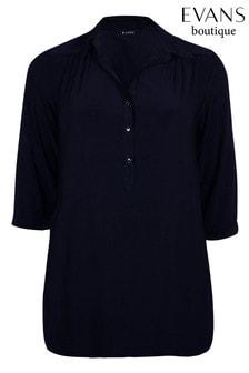 Evans Curve Navy Jersey Shirt