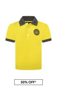 Baby Boys Yellow Cotton Poloshirt