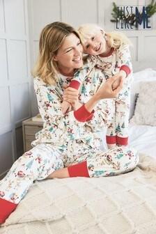Matching Mother & Me Womens Christmas Scene Pyjamas