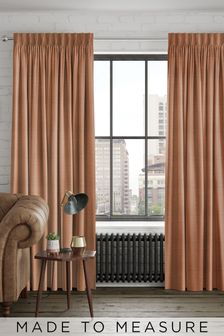 Jasper Rust Orange Made To Measure Curtains