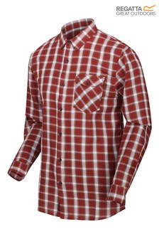 Regatta Red Check Lonan Long Sleeve Shirt