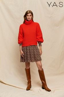 Y.A.S Orange Red Roll Neck Jumper