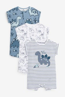 3 Pack Dinosaur Rompers (0mths-3yrs)