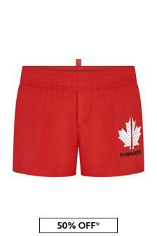 Dsquared2 Kids Boys Red Swim Shorts