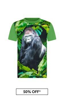 Molo Boys Green Cotton T-Shirt