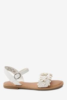 Flower Embellished Sandals (Older)