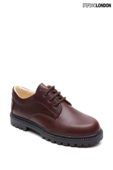 Step2wo Brown Bruton Lace-Up Shoes