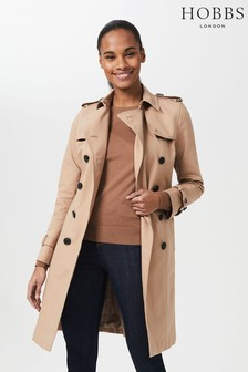 Hobbs Brown Petite Saskia Trench Coat