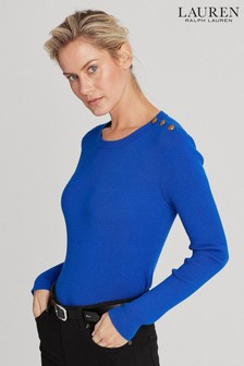 Lauren Ralph Lauren® Blue Adonya Cotton Jumper
