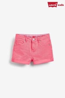 Levi's® Kids Pink Girlfriend Shorts