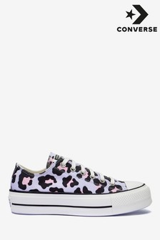 Converse Leopard Lift Ox Trainers