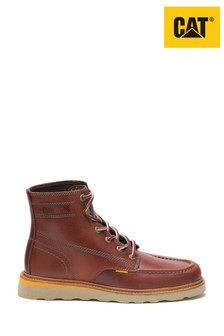 CAT® Brown Jackson Moc Premium Leather Boots