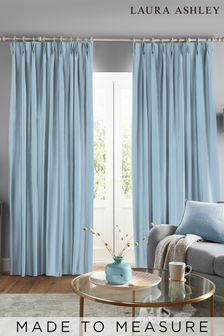 Laura Ashley Easton Pale Seaspray Made to Measure Curtains