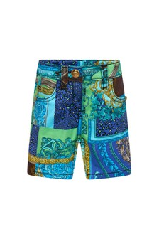 Versace Baby Boys Blue Cotton Shorts