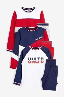 3 Pack Colourblock Pyjamas (3-16yrs)