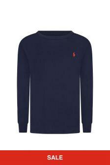 Ralph Lauren Kids Boys Navy Jersey Long Sleeve T-Shirt